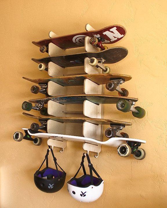 Skateboard Rack DIY  25 bästa Skateboard rack idéerna på Pinterest