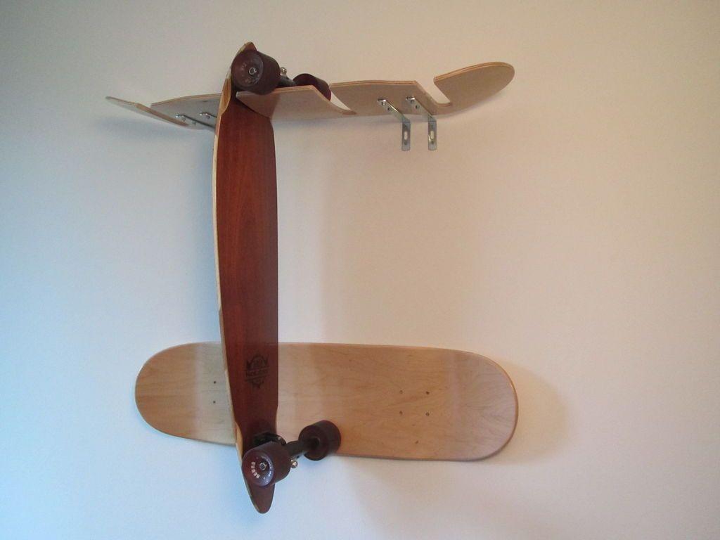 Skateboard Rack DIY  Skadeboard Rack Made From Skateboarddecks