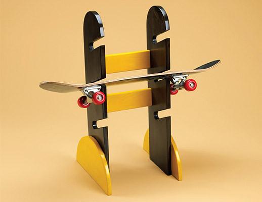 Skateboard Rack DIY  How To Make A Porch Swing Skateboard Storage Rack Plans