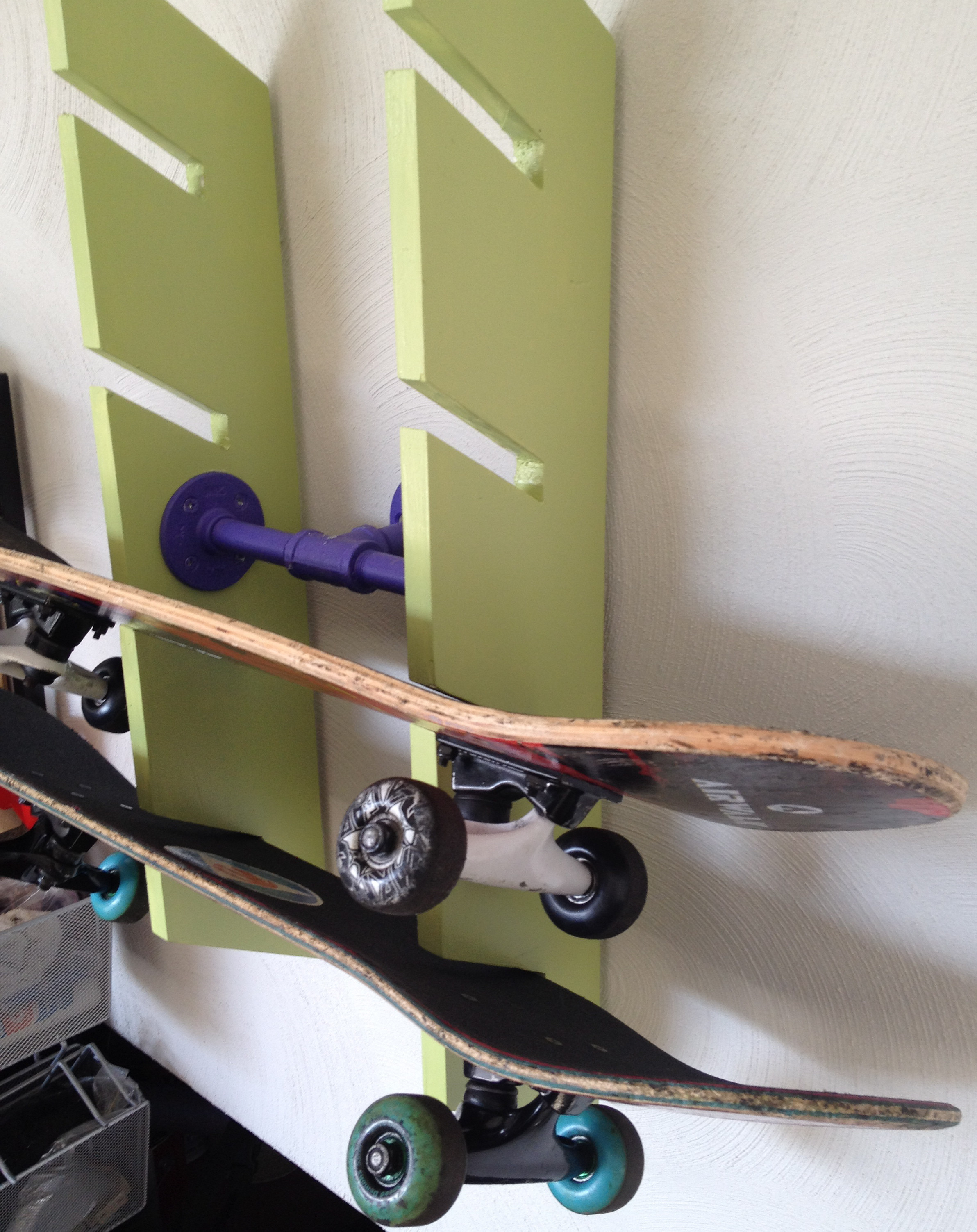 Skateboard Rack DIY  Skateboard Rack