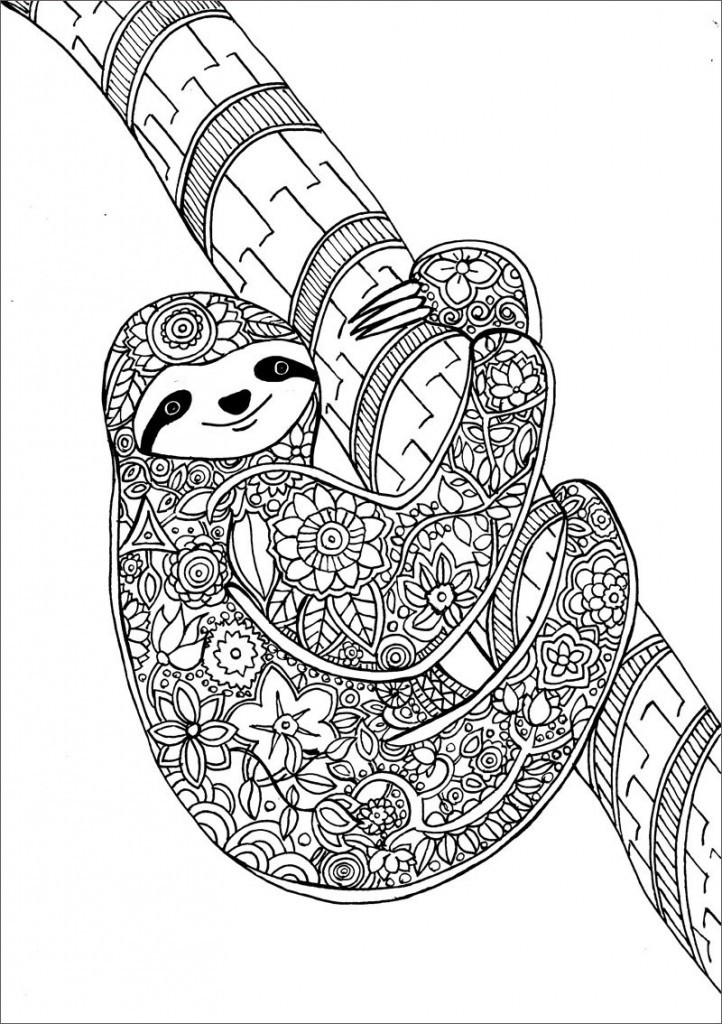 Sloth Coloring Sheets For Boys  Ki mondta hogy a sznezés csak gyerekeknek való Íme 10