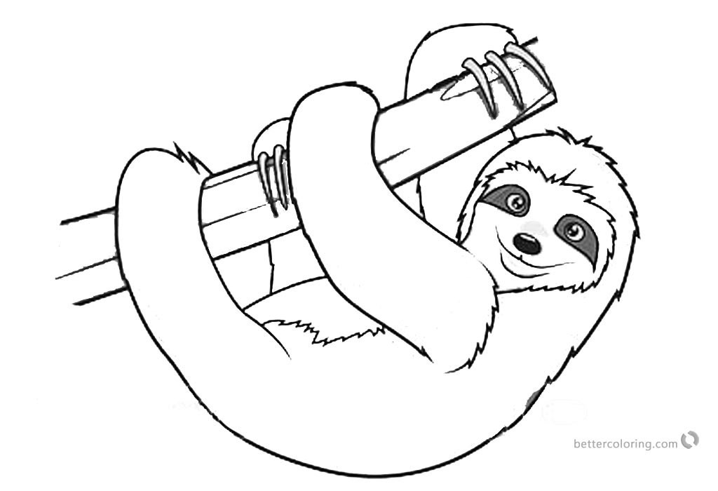 Sloth Coloring Sheets For Boys  Lisa Loud House Coloring Pages