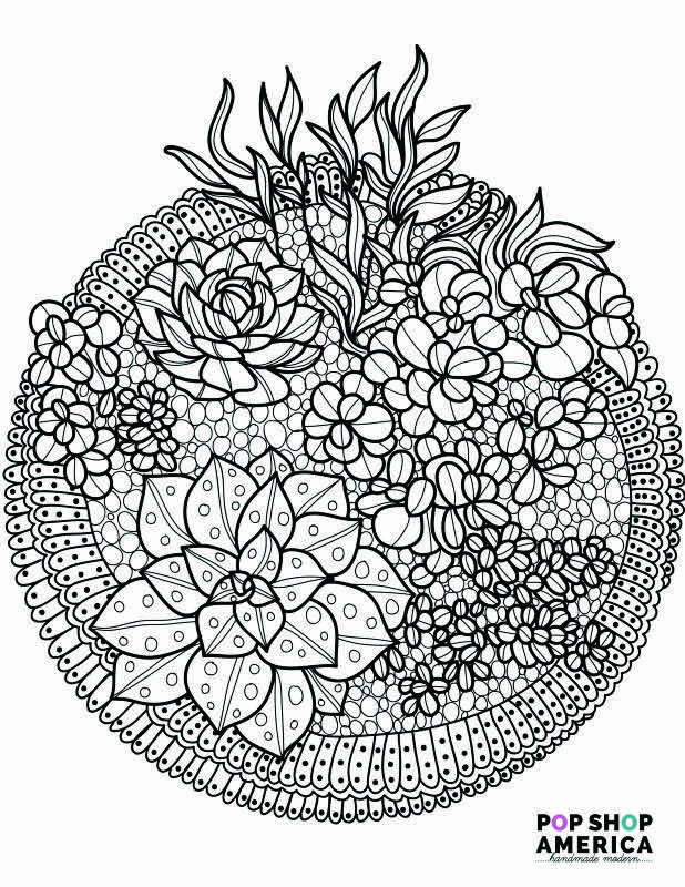 Best ideas about Small Adult Coloring Books . Save or Pin Free Adult Coloring Book Pages with Succulent Terrariums Now.
