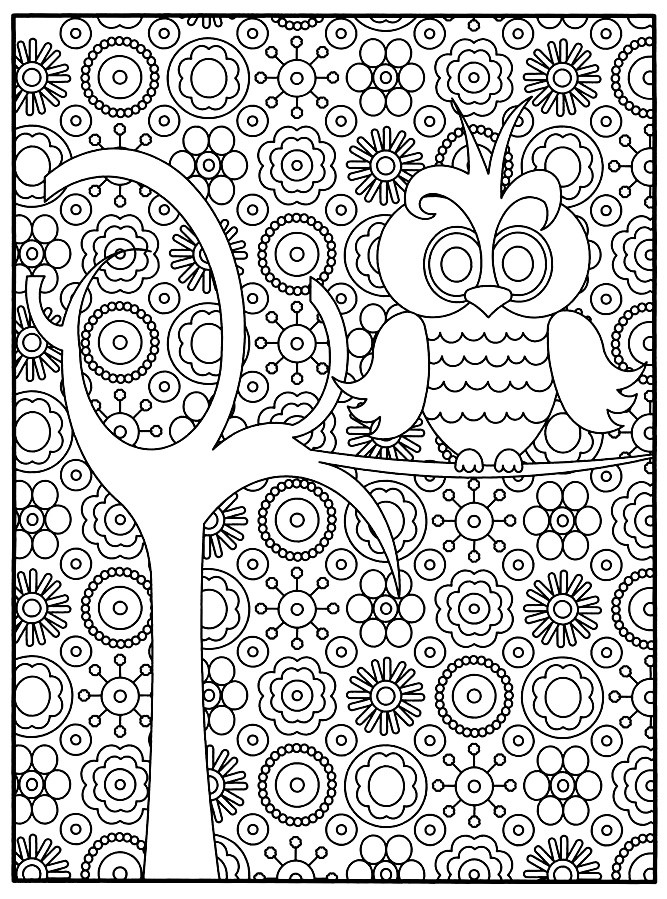 Best ideas about Small Adult Coloring Books . Save or Pin Small Coloring Pages For Adults Animal Adult Difficult Owl Now.