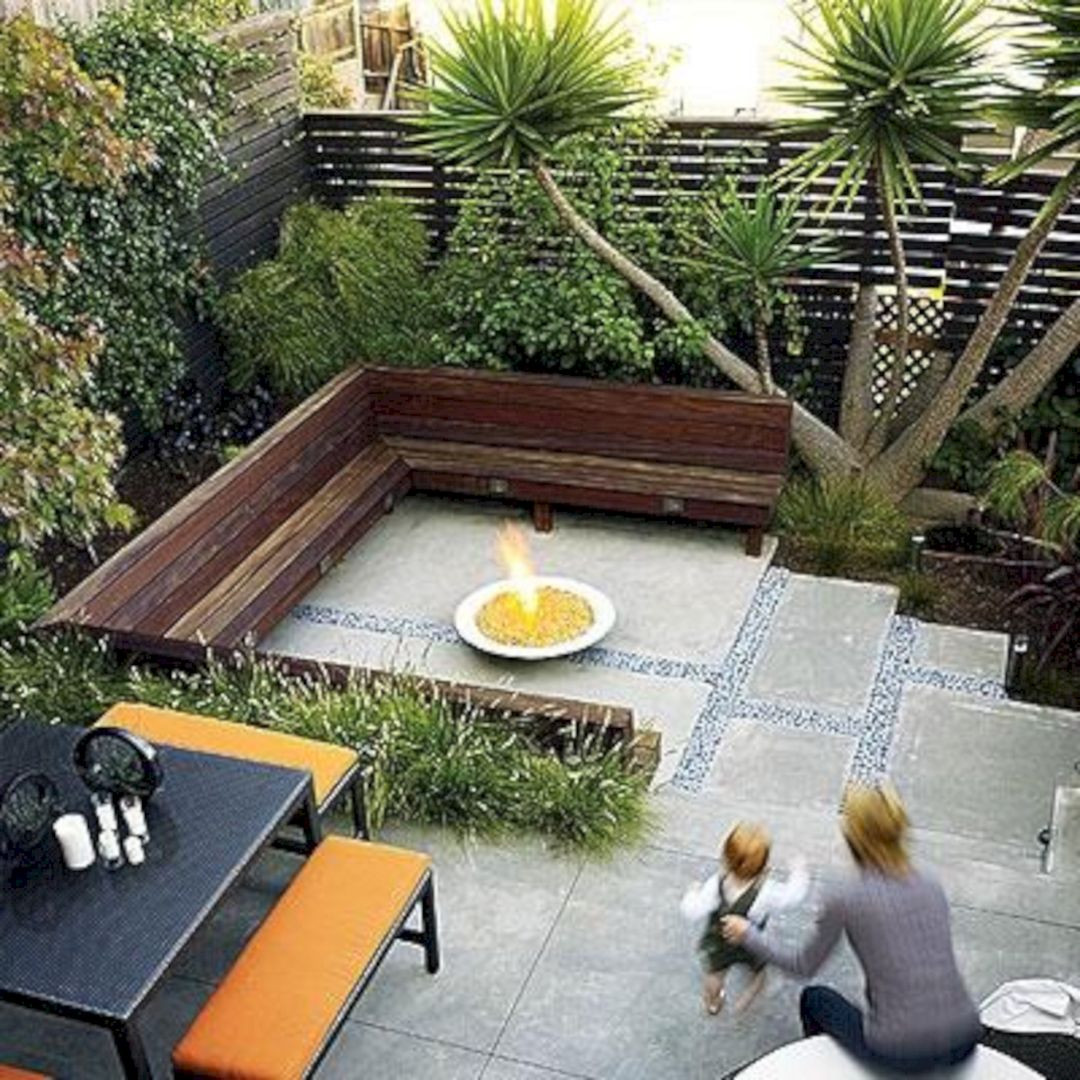 Best ideas about Small Backyard Design . Save or Pin Small backyard patio design with bamboo bench – DECOOR Now.
