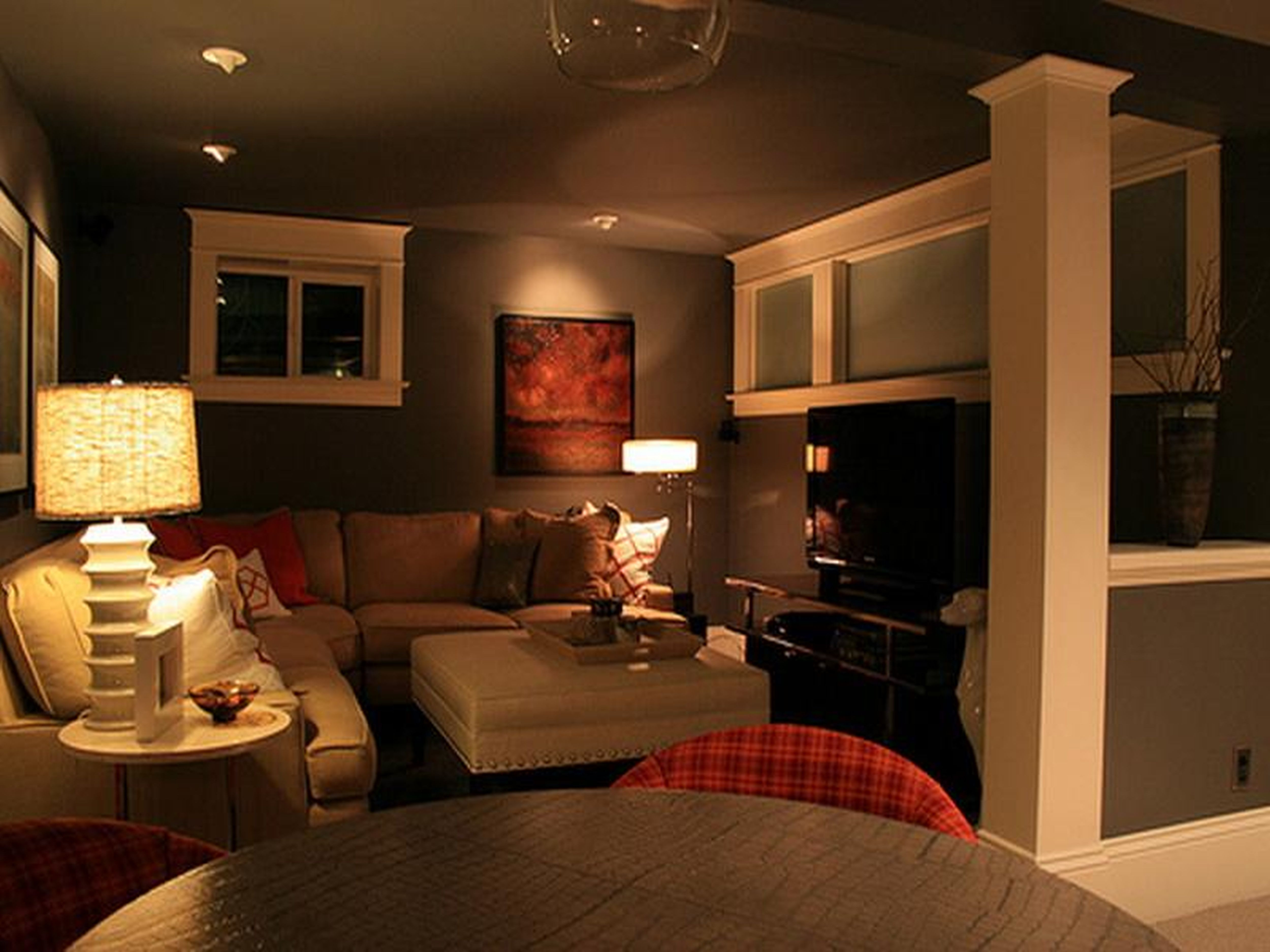 Best ideas about Small Basement Ideas On A Budget . Save or Pin Tiny basement redo inexpensive basement finishing ideas Now.