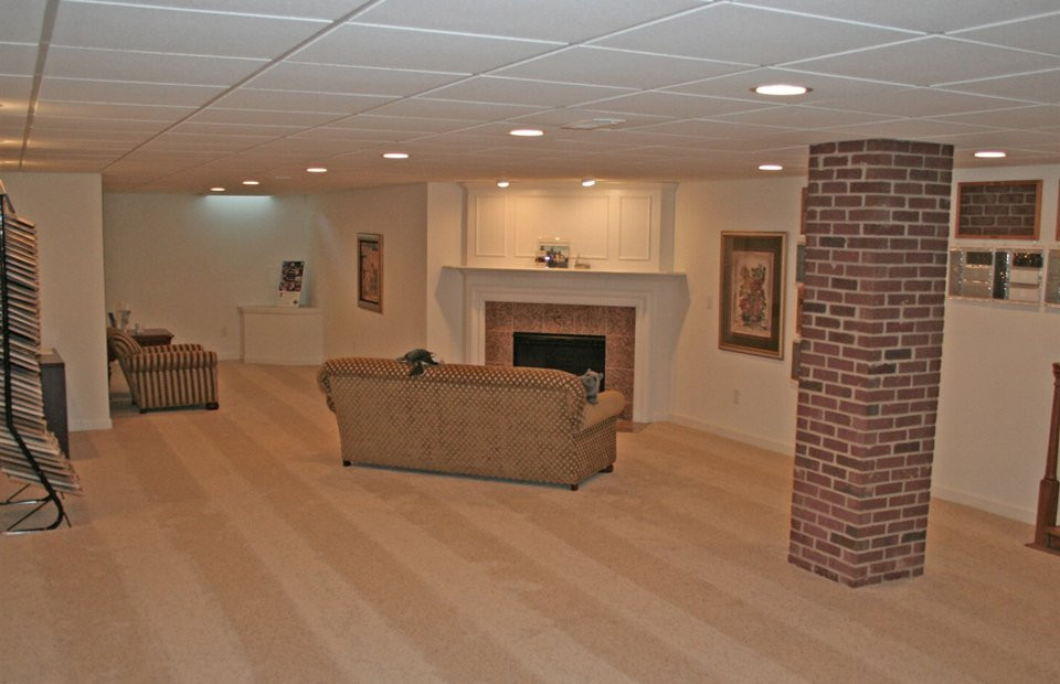Best ideas about Small Basement Ideas On A Budget . Save or Pin Basement Finished Ideas A Bud With Low Ceiling Now.
