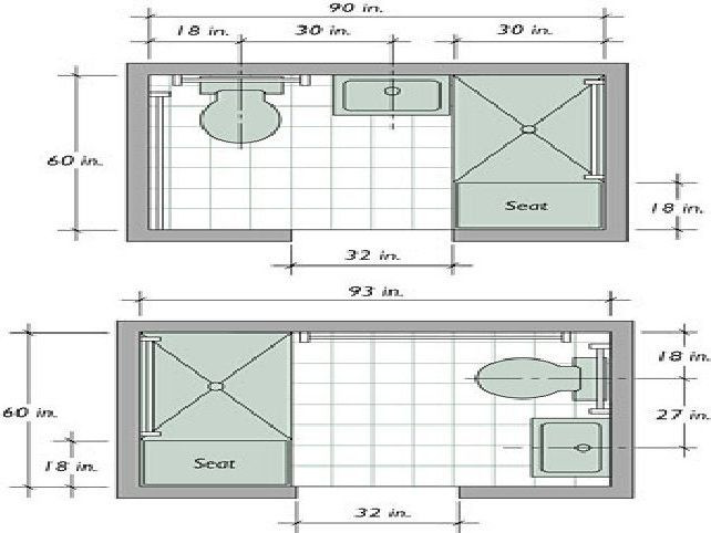 Best ideas about Small Bathroom Dimensions . Save or Pin Best 25 Small narrow bathroom ideas on Pinterest Now.