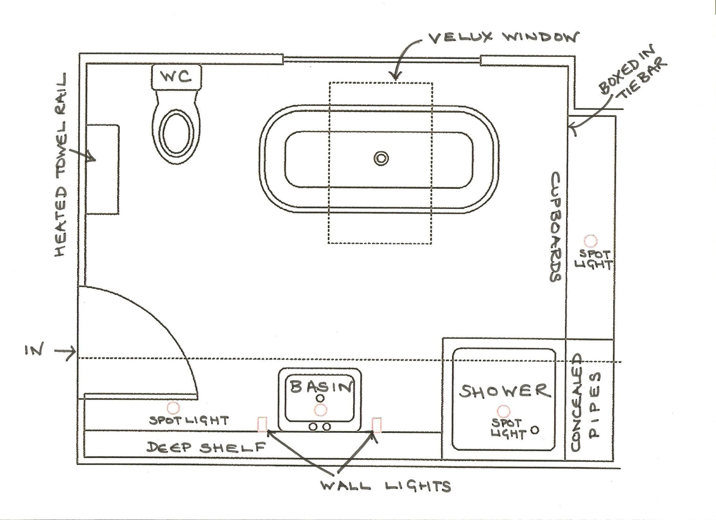 Best ideas about Small Bathroom Dimensions . Save or Pin 6 x 12 bathroom floor plans Now.