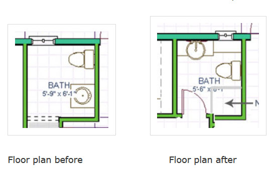 Best ideas about Small Bathroom Dimensions . Save or Pin Powder Room Be es Full Bath Redo Now.