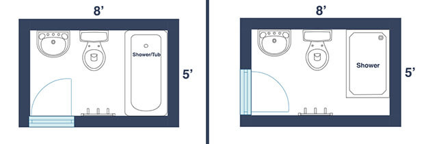Best ideas about Small Bathroom Dimensions . Save or Pin 7 Awesome Layouts That Will Make Your Small Bathroom More Now.