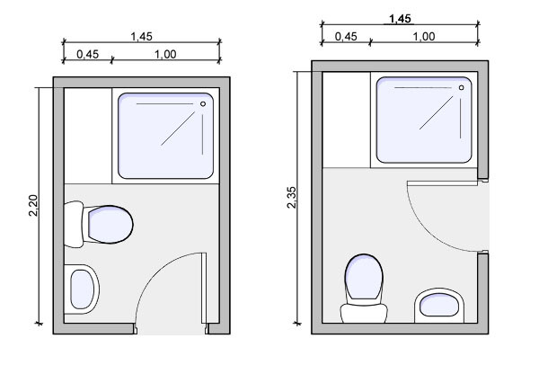 Best ideas about Small Bathroom Dimensions . Save or Pin Types of bathrooms and layouts Now.