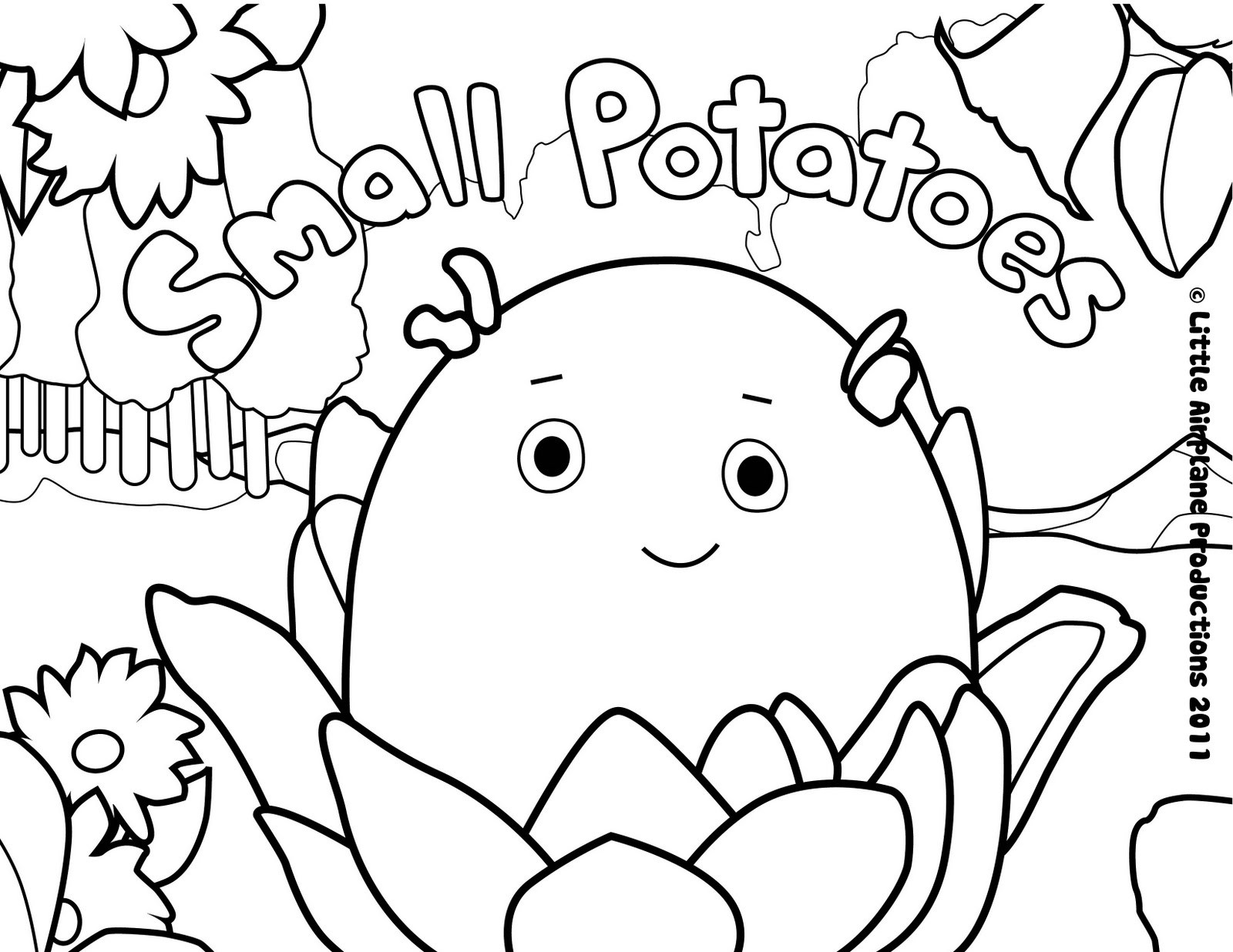 Small Coloring Pages  erica kepler Small Potatoes Coloring Pages