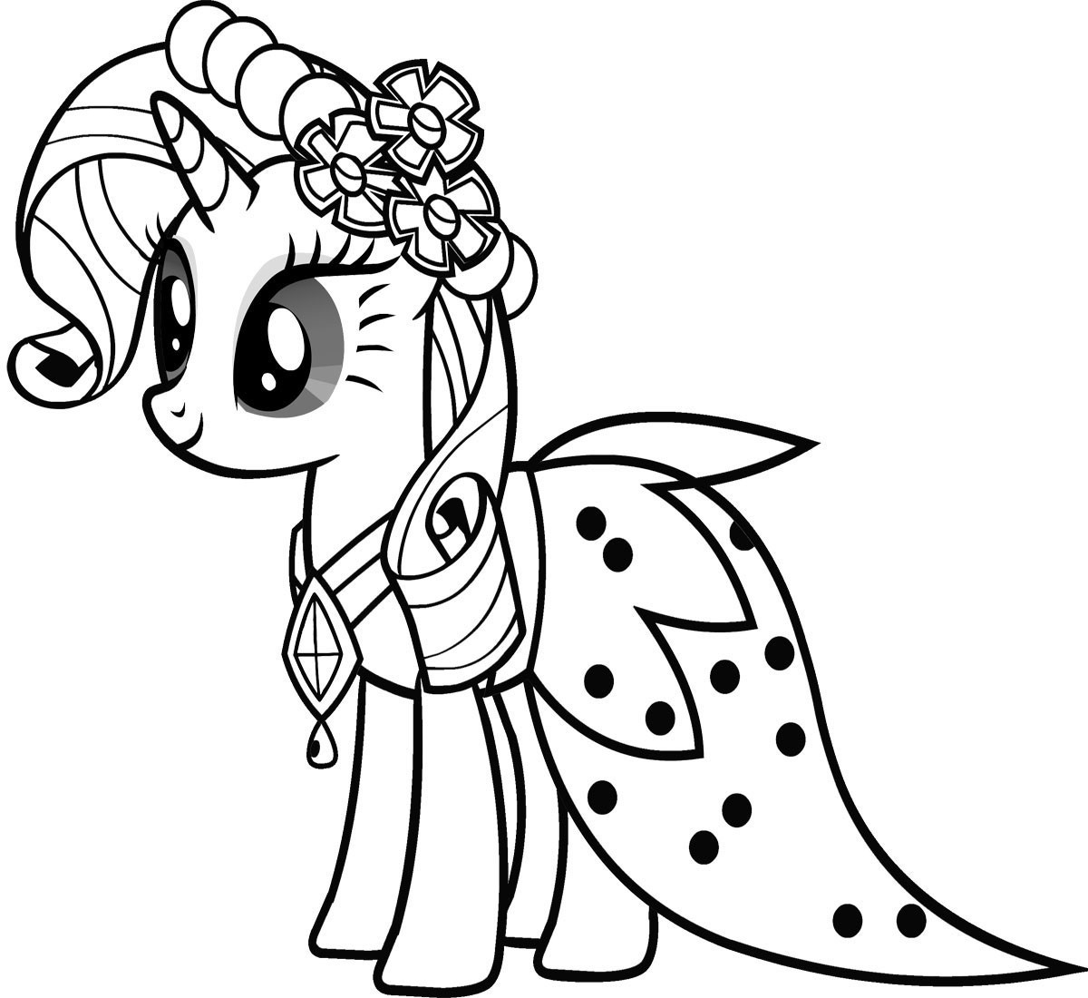 Small Coloring Pages For Kids  Free Printable My Little Pony Coloring Pages For Kids