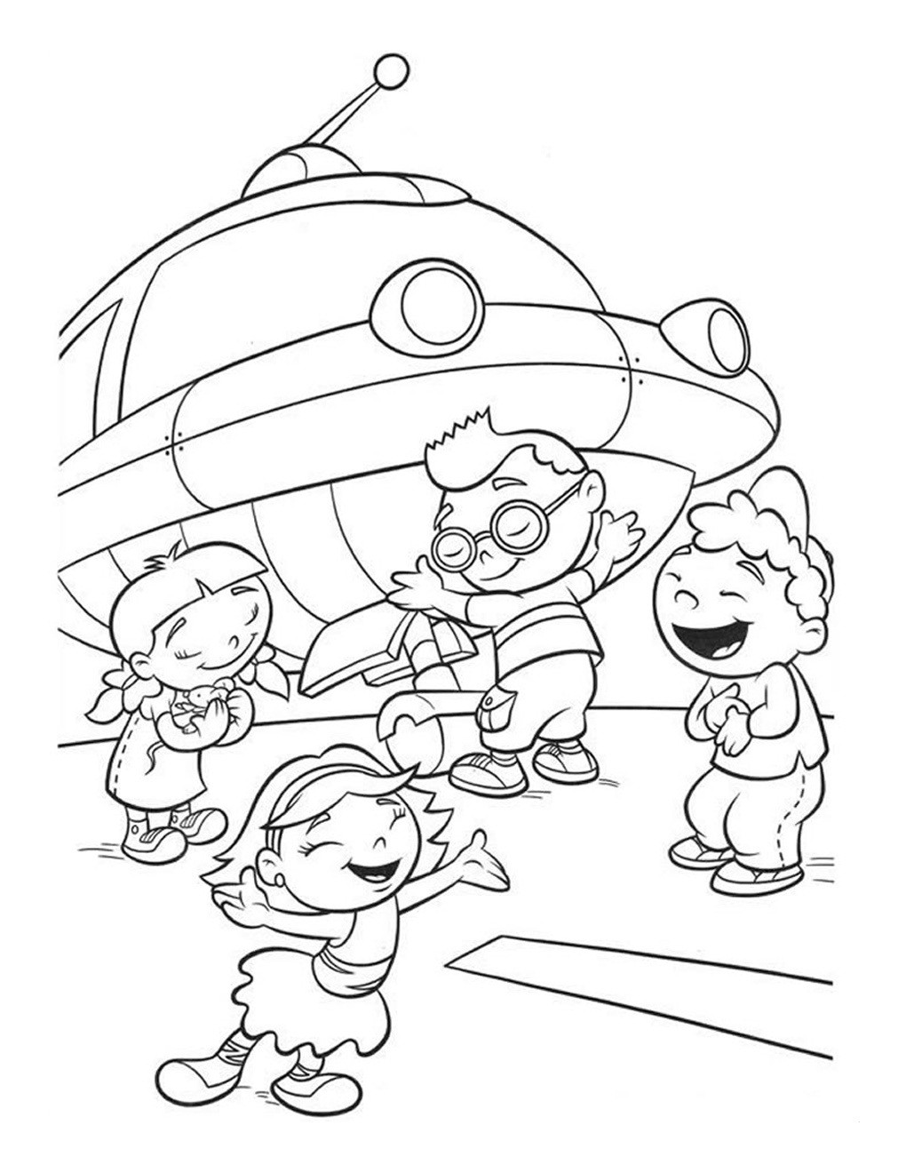 Small Coloring Pages For Kids  Free Printable Little Einsteins Coloring Pages Get ready