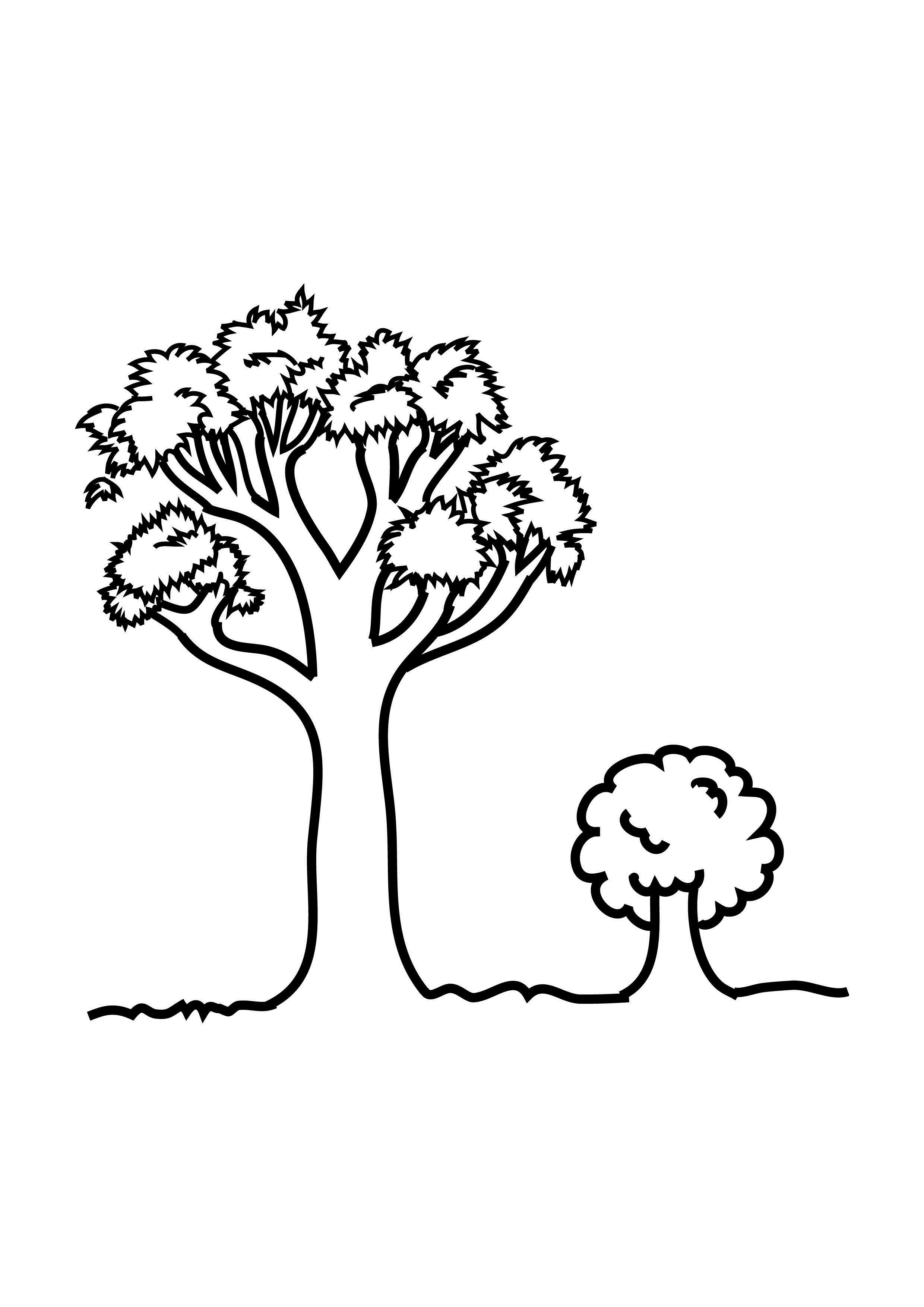 Small Coloring Pages  Free Printable Tree Coloring Pages For Kids