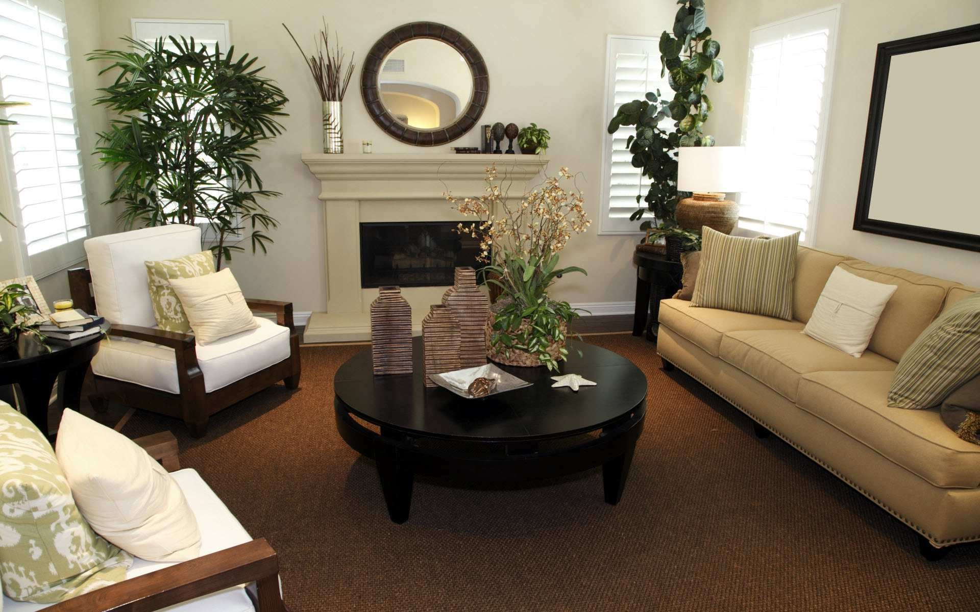 Best ideas about Small Family Room Ideas . Save or Pin Simple Way to Decorate Small Living Room with Brown Color Now.