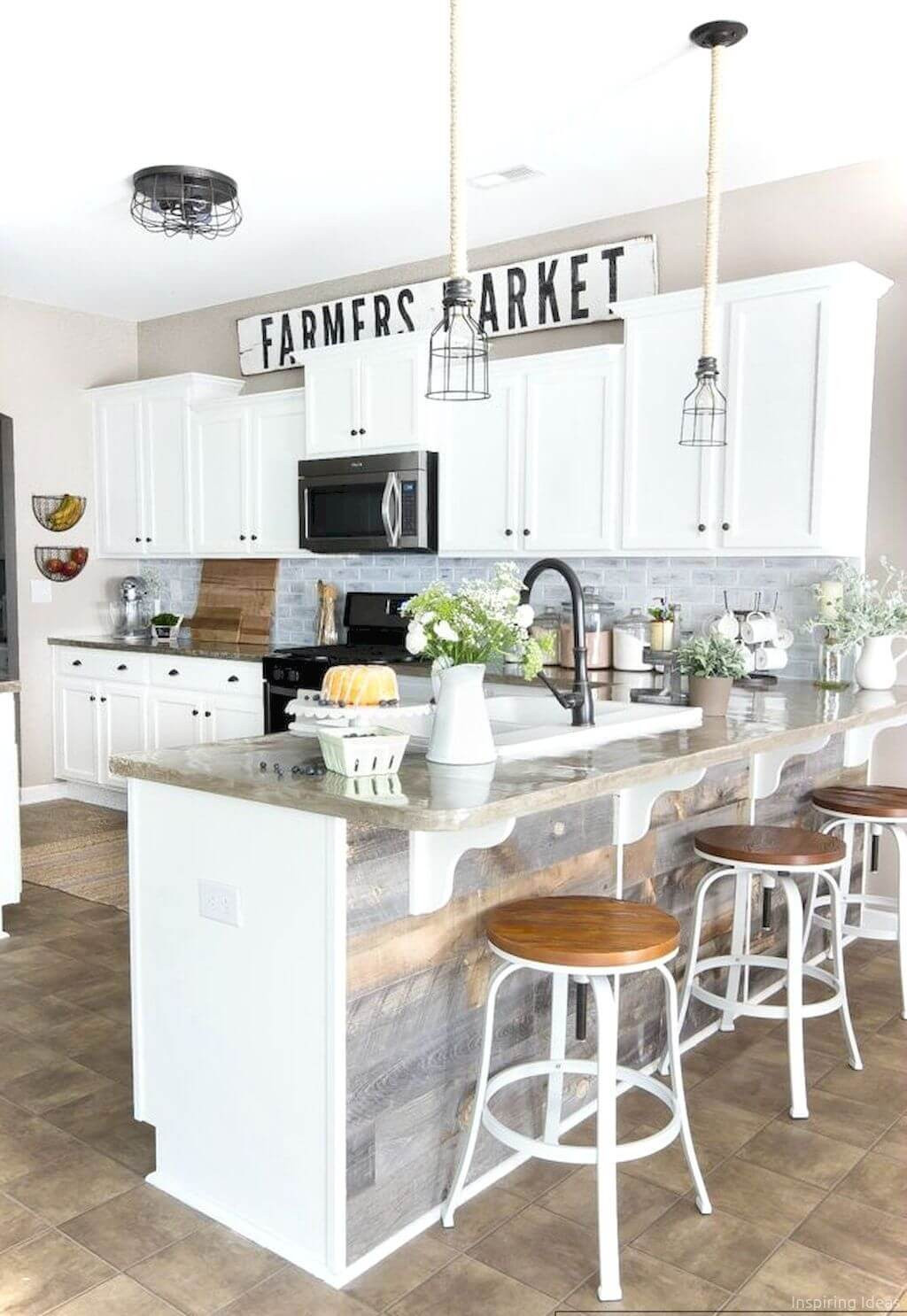 Best ideas about Small Farmhouse Kitchen Ideas . Save or Pin 35 Best Farmhouse Kitchen Cabinet Ideas and Designs for 2019 Now.