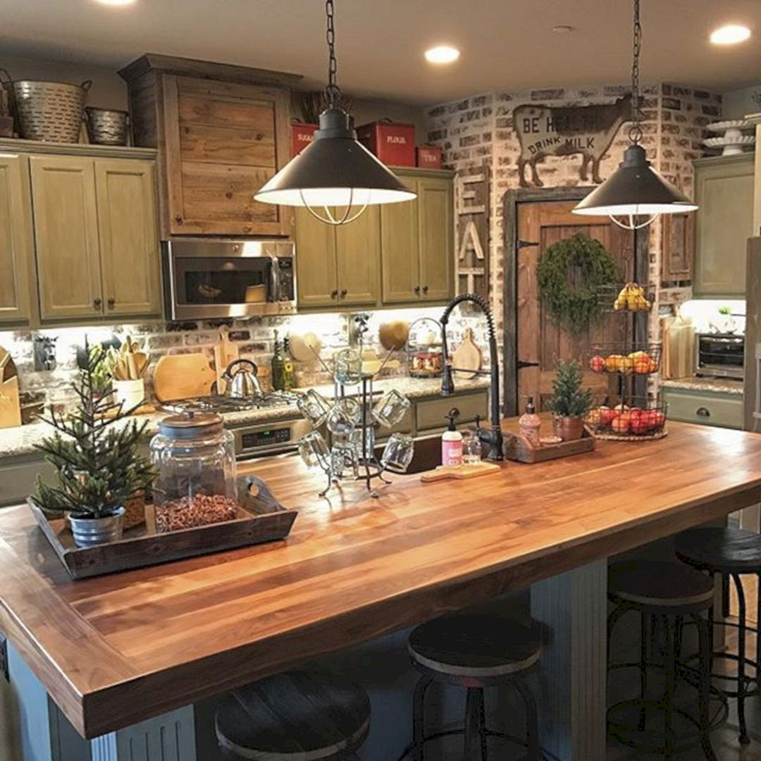Best ideas about Small Farmhouse Kitchen Ideas . Save or Pin 24 Farmhouse Rustic Small Kitchen Design And Decor Ideas Now.