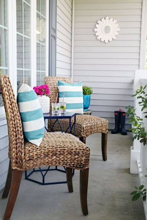 Best ideas about Small Front Porch Furniture Ideas . Save or Pin 24 Cute Small Porch Decor Ideas To Try Now.