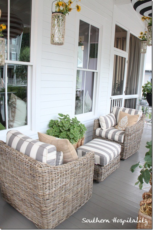 Best ideas about Small Front Porch Furniture Ideas . Save or Pin Feature Friday Ballard Designs Bosch House at Serenbe Now.