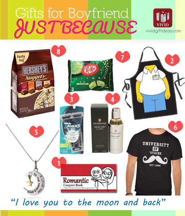 Small Gift Ideas For Boyfriend  Gifts for Boyfriend Just Because Vivid s