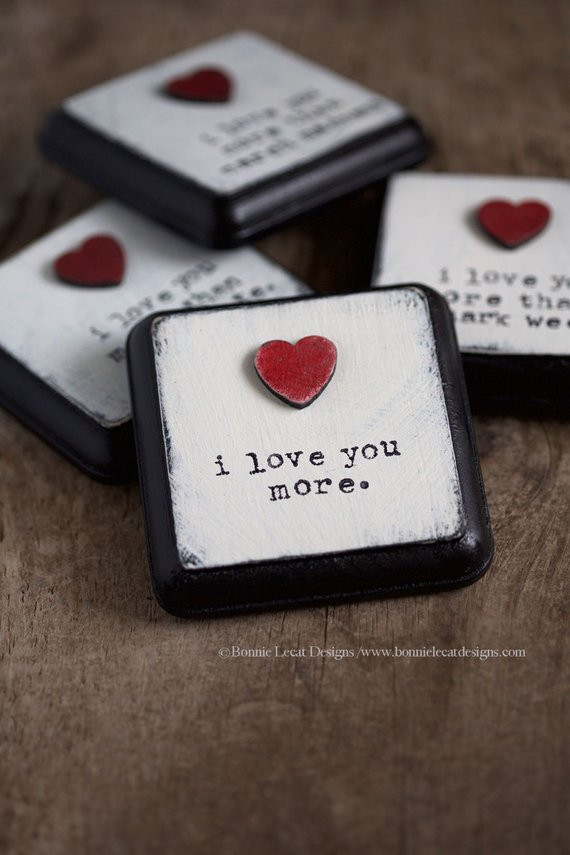 Small Gift Ideas For Boyfriend  I Love You More Small Sign Valentine s Day Gift Idea