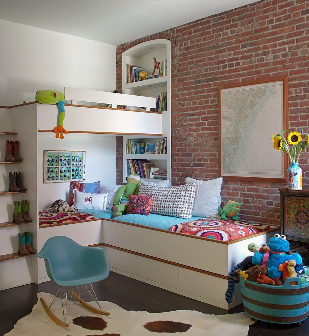 Best ideas about Small Kids Room . Save or Pin 25 Vivacious Kids' Rooms with Brick Walls Full of Personality Now.