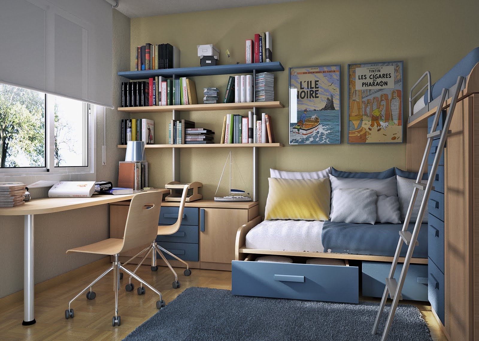 Best ideas about Small Kids Room . Save or Pin Small Floorspace Kids Rooms Now.