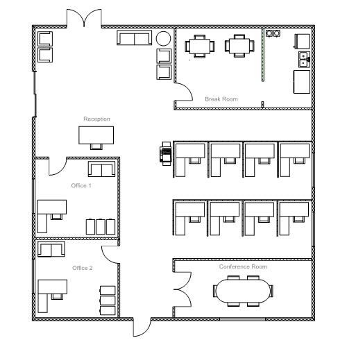 Best ideas about Small Office Floor Plan . Save or Pin fice Breakfast Now.