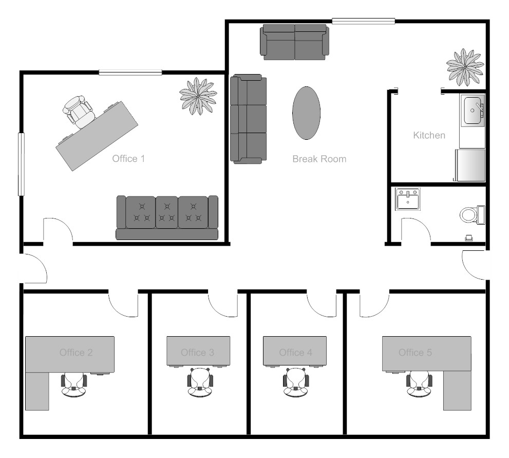 Best ideas about Small Office Floor Plan . Save or Pin Example Image fice Building Floor Plan Now.