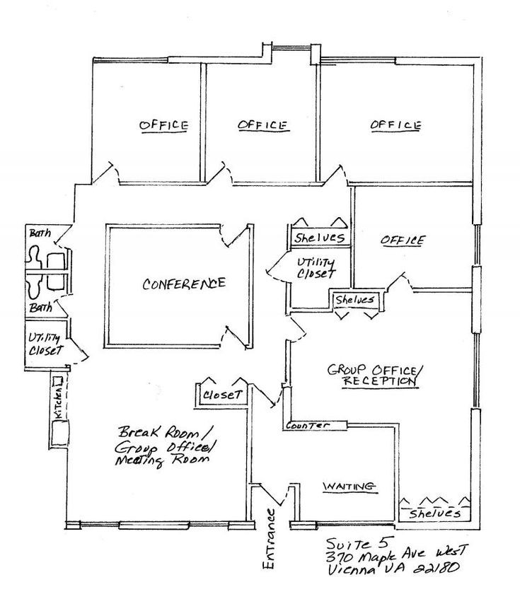 Best ideas about Small Office Floor Plan . Save or Pin 4 Small fices Floor Plans Now.