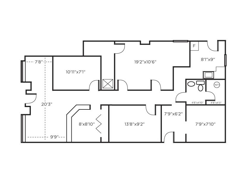 Best ideas about Small Office Floor Plan . Save or Pin Stunning Small fice Floor Plans 21 s House Plans Now.