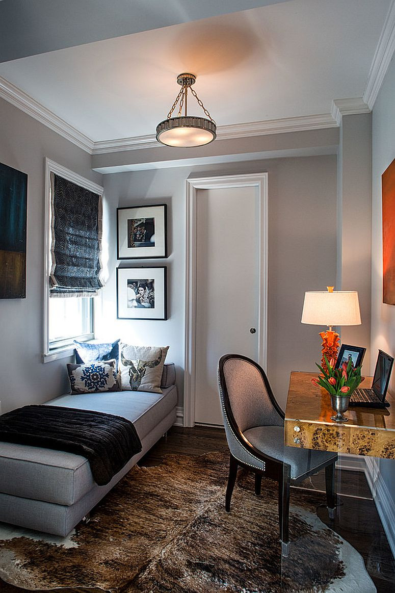 Best ideas about Small Office Guest Room Ideas . Save or Pin 23 Space Savvy Home fices that Utilize their Corner Space Now.