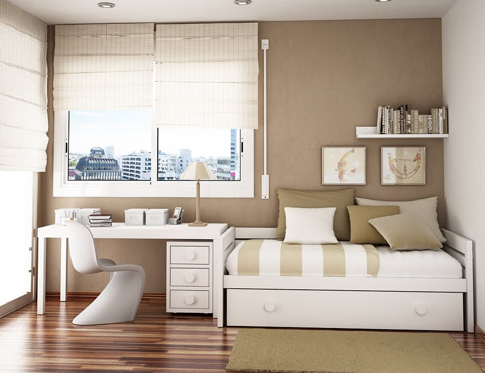 Best ideas about Small Office Guest Room Ideas . Save or Pin Space Saving Ideas for Small Kids Rooms Now.