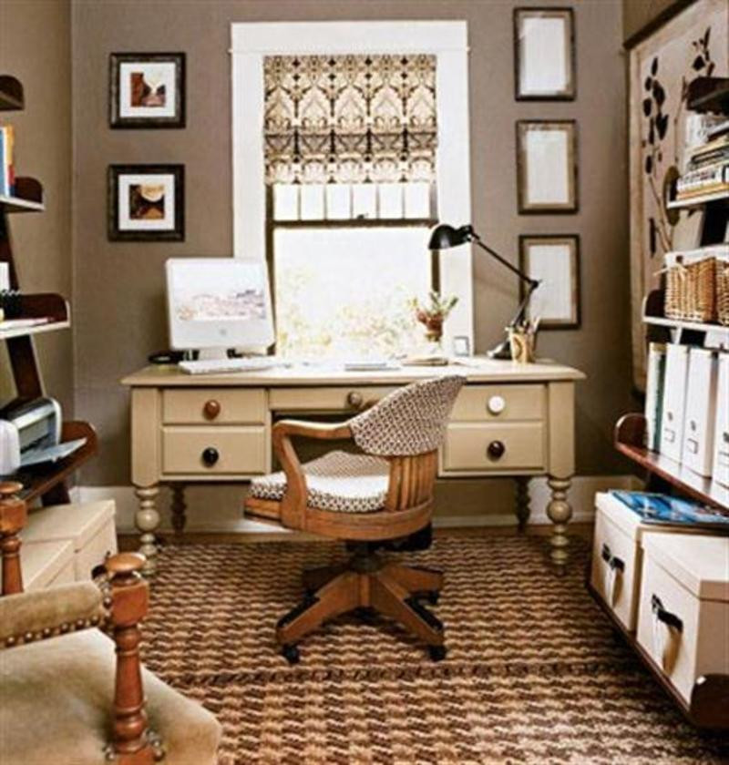 Best ideas about Small Office Space Design . Save or Pin Small Spaces Home Decorating Now.