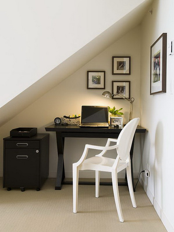 Best ideas about Small Office Space Design . Save or Pin 20 Home fice Designs for Small Spaces Now.