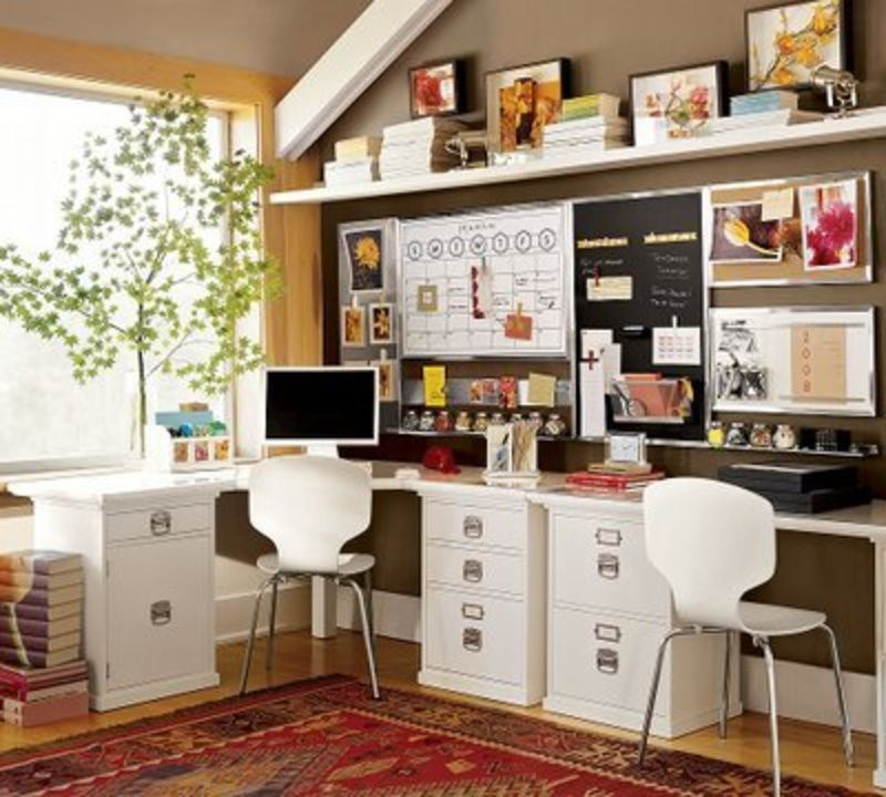 Best ideas about Small Office Space Ideas . Save or Pin e Day At A Time fice Creative Space Ideas Now.