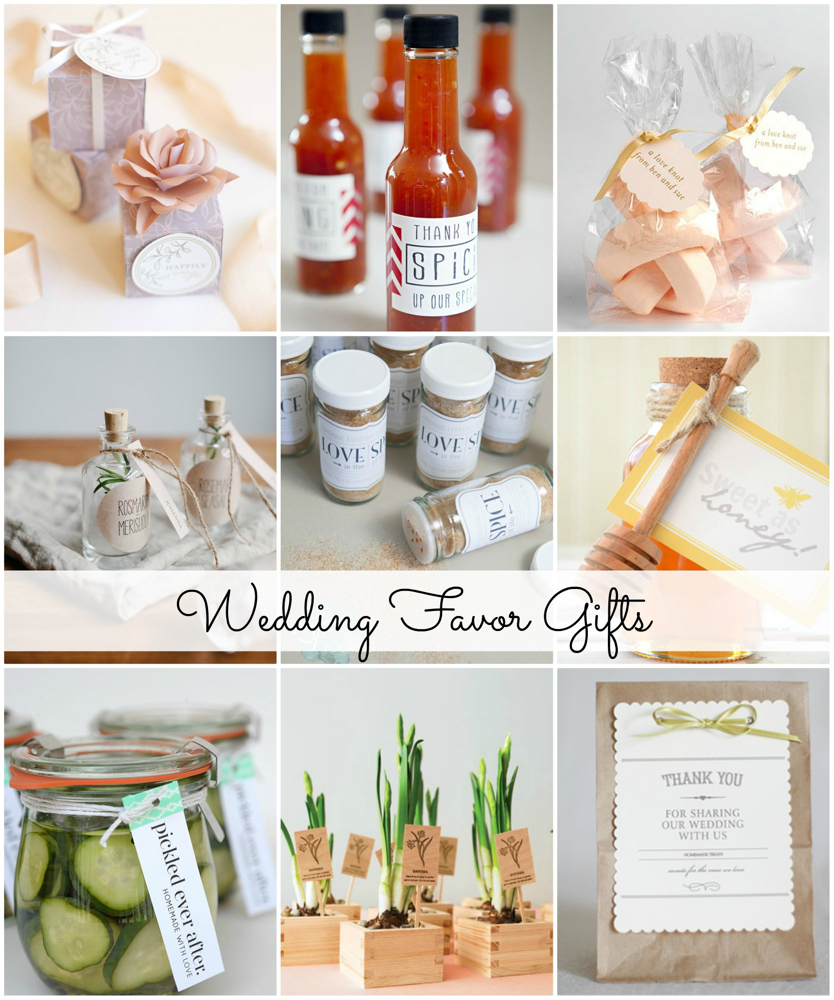 Small Wedding Gift Ideas  Wedding Favor Gift Ideas The Idea Room