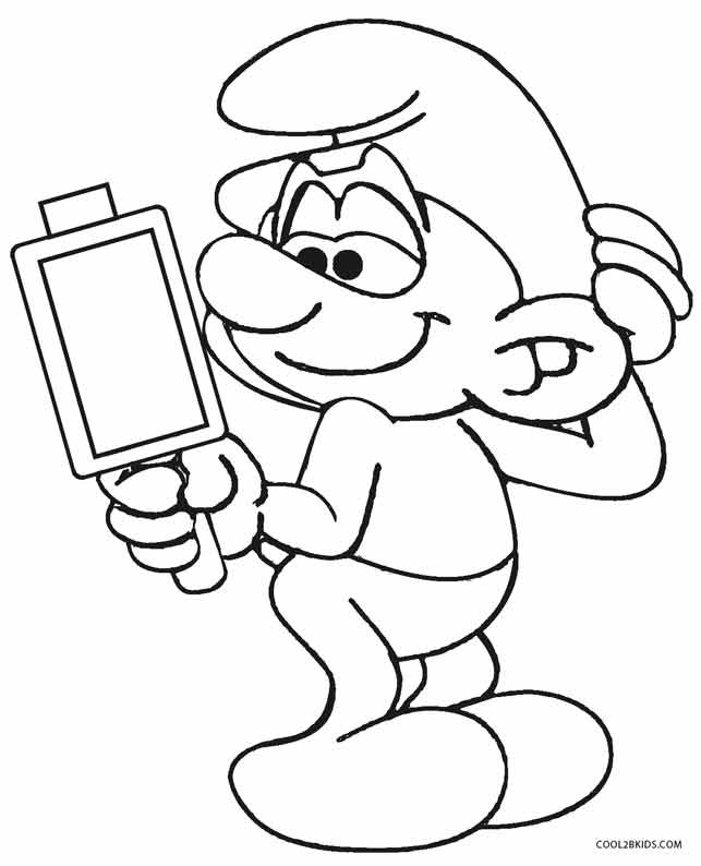 Smurf Coloring Pages  Printable Smurf Coloring Pages For Kids