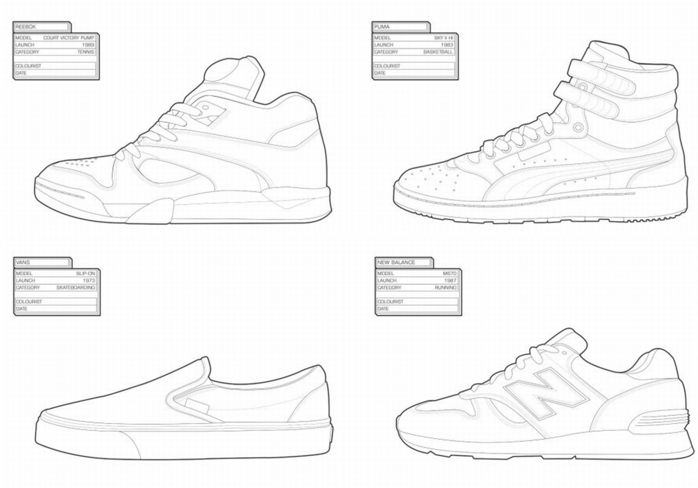 Sneaker Coloring Book  SURL