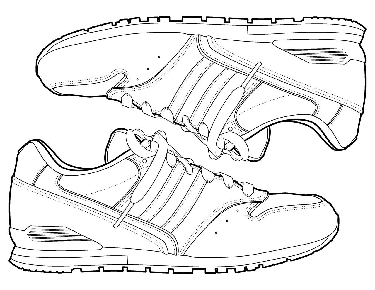 Sneaker Coloring Book  The Spinsterhood Diaries Sneakers Coloring Page