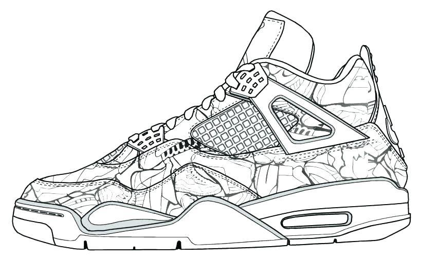Sneaker Coloring Book  Jordan Coloring Pages Nike Air Sneaker Sheets Coloring