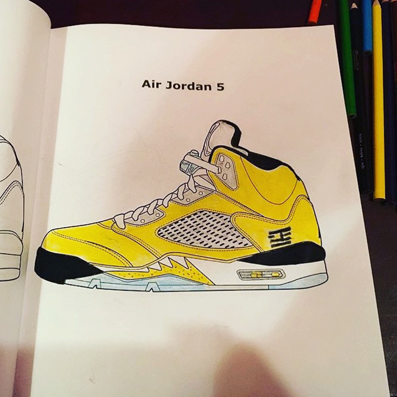 Sneaker Coloring Book  Jordan Sneaker Coloring Books – FEELGOOD THREADS