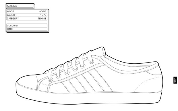Sneaker Coloring Book  The Sneaker Colouring Book Cool Hunting