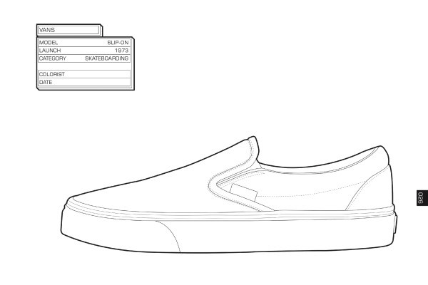 Sneaker Coloring Book  The Stuff of Life 5 Quirky Coloring Books for the Eternal