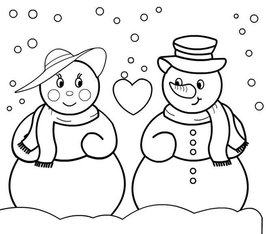 Snowman Coloring Sheet  Coloring Pages Christmas Snowman Coloring Pages Free and