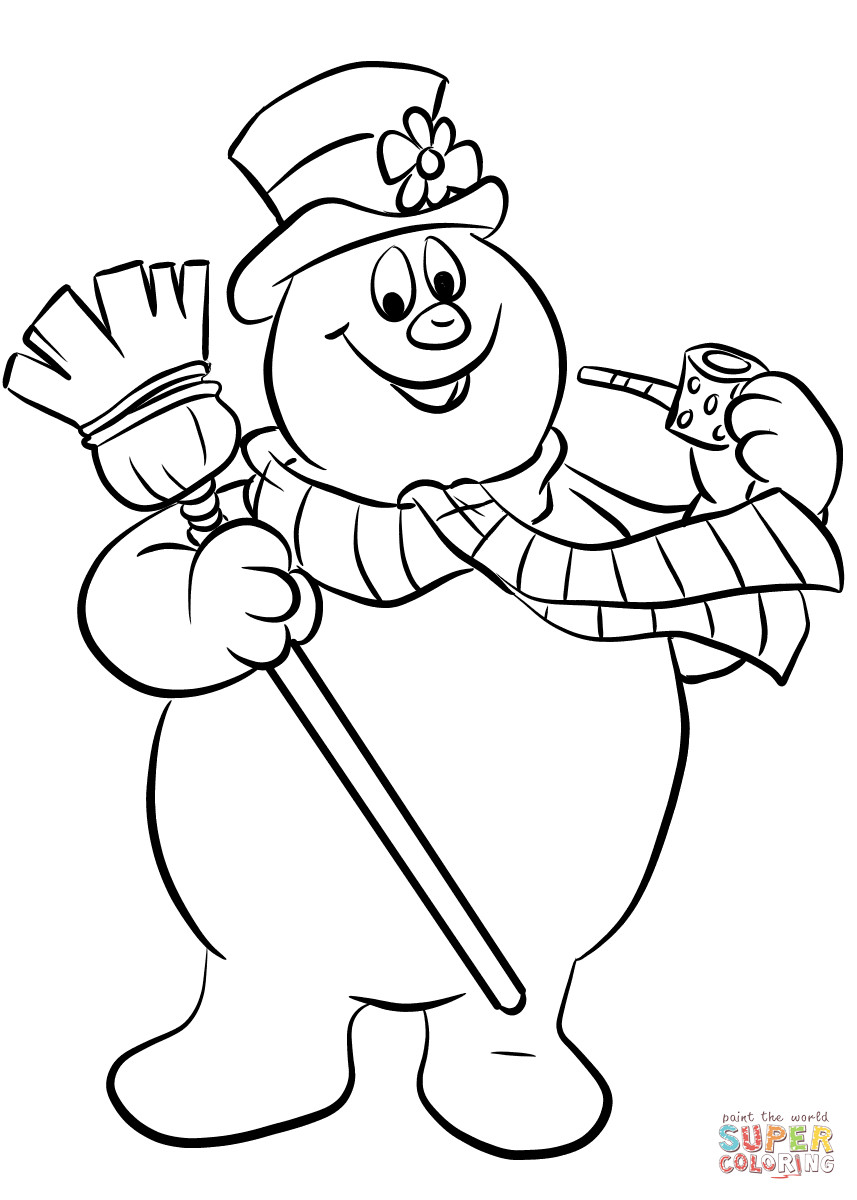 Snowman Coloring Sheet  Frosty the Snowman coloring page