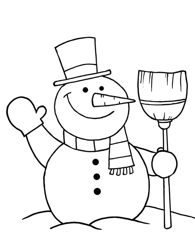 Snowman Coloring Sheet  Free Printable Snowman Coloring Pages For Kids