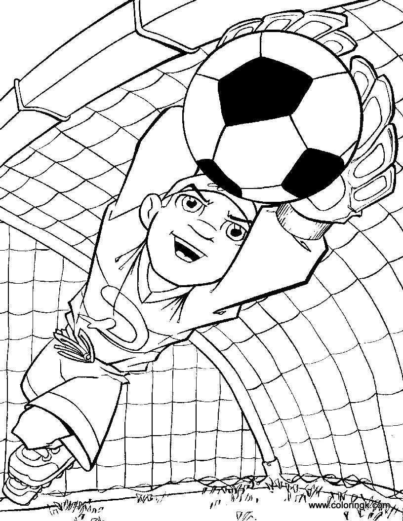 Soccer Coloring Pages For Boys  Goalkeeper coloring page